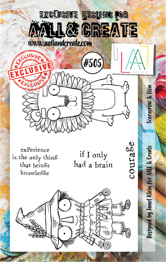 AALL & Create Stempel - Scarecrow & Lion #505