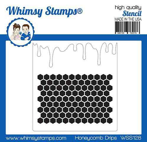 Whimsy Stamps Schablone - Honeycomb (WSS128)