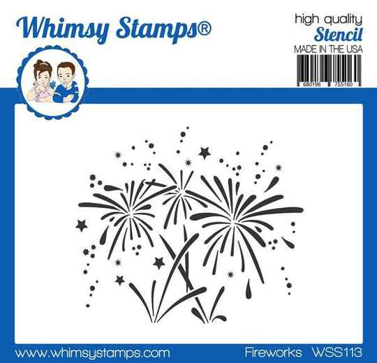 Whimsy Stamps Schablone - Fireworks (WSS113)