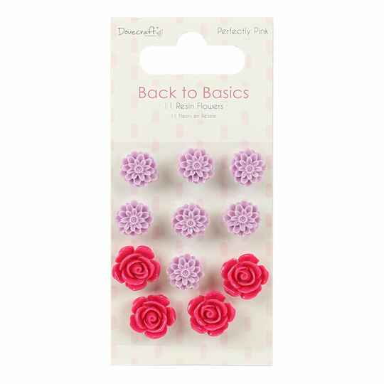 Dovecraft Perfectly Pink Resin Blumen (DCFLW015)