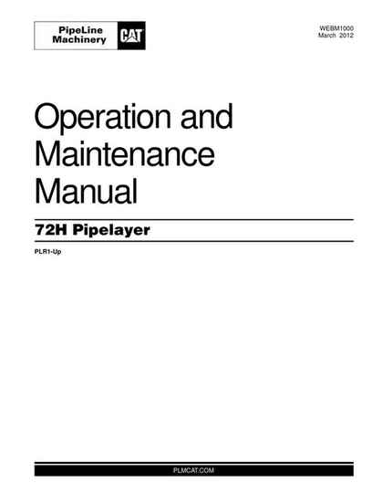 Cat-72H-PIPELAYER-Operation-and-Maintanence-Manual