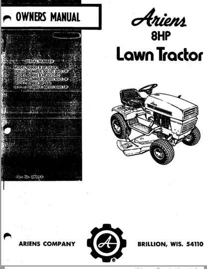 Ariens-8-HP-lawn-tractor-owners-manual