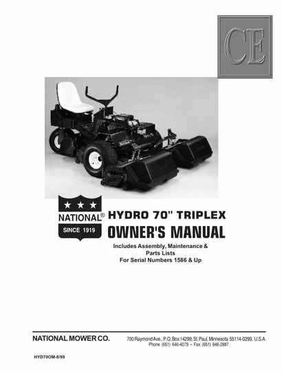 Hydro 70 Owners manual