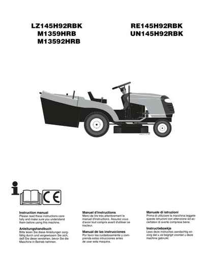 Muchulich Ride On Mowers No6  See cover for Models