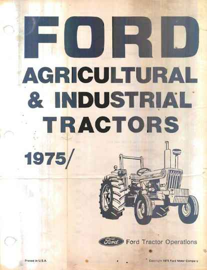 Ford Agricultural and Industrial Tractors 75 Parts Manual