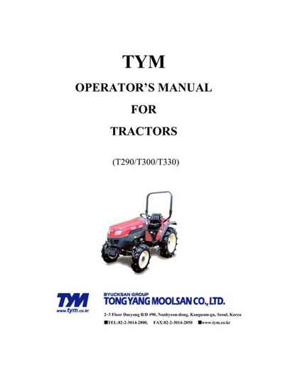 TYM-T290-T300-T330-Opps Manual