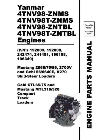 Yanmar-ctl65-ctl75-engine-parts-manual-compact-track-loader