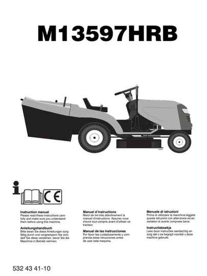 Muchulich Ride On Mowers No7  See cover for Models