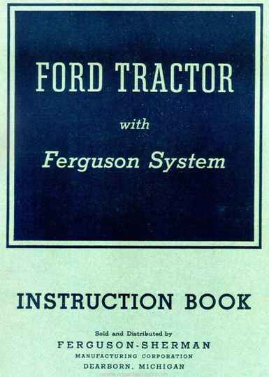 Ford 1940 Ford Tractor Instruction Book