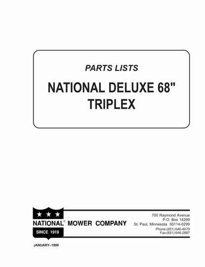 Deluxe 68 Parts manual