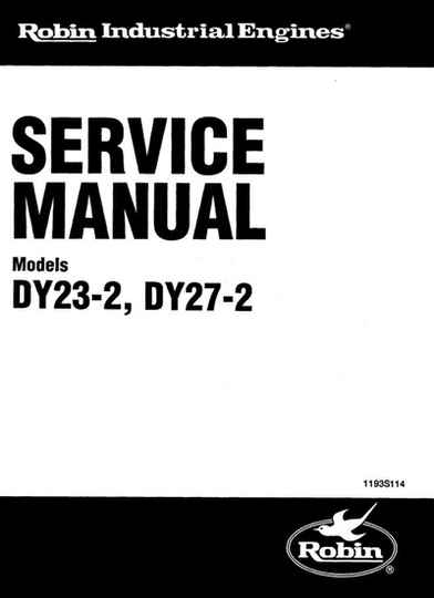Subaru Robbin 22 -DY23-2-DY27-2-SM-0750 See Image for Models Covered Workshop Manual