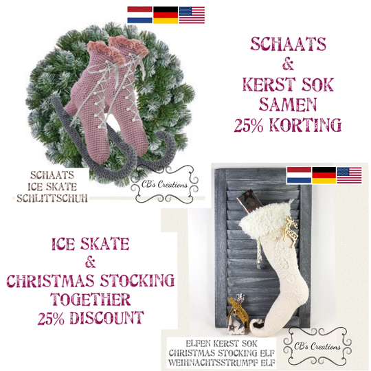 Ice Skate and Christmas Stocking package deal, PDF