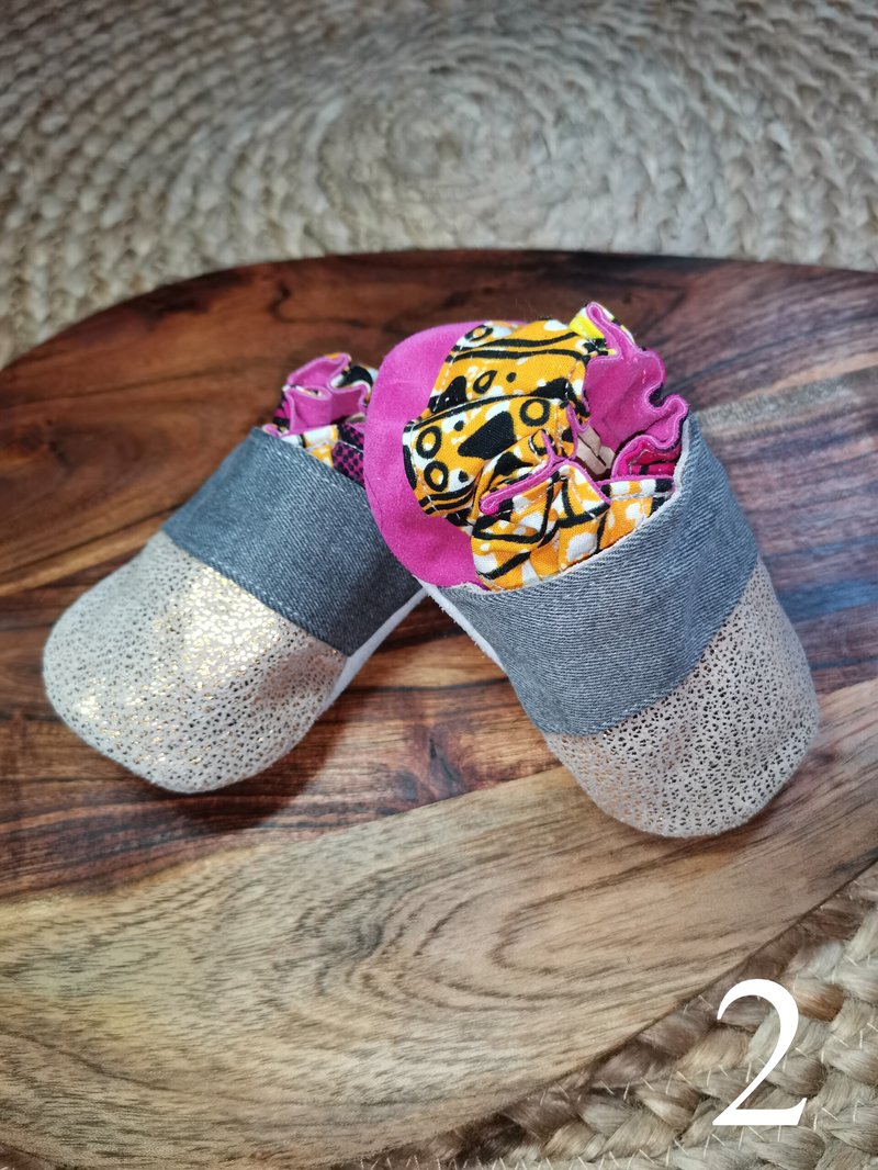 CHAUSSON BEBE EN CUIR RECYCLE 6/12 MOIS