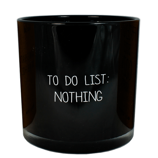 Soja kaars - To do list: Nothing