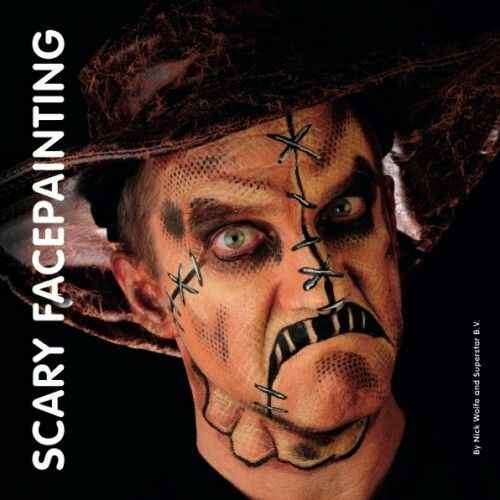 Scary facepainting - Nick Wolfe