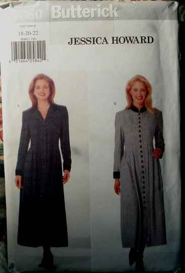 Butterick 5080 Misses Loose Fitting A-Line Dress By Jessica Howard Sizes (18-20-22)