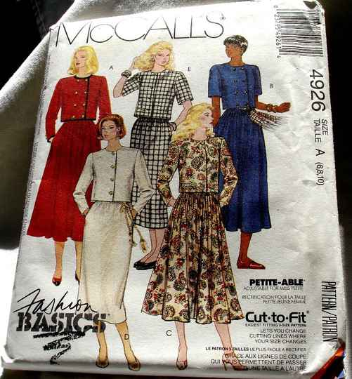McCall's 4926 Misses Two Piece Front Buttoned Crop Top Dress Pattern Size A (6-8-10)