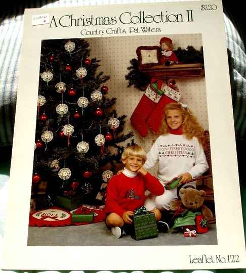 A Christmas Collection II Cross Stitch Country Crafts By Pat Waters Leaflet No . 122