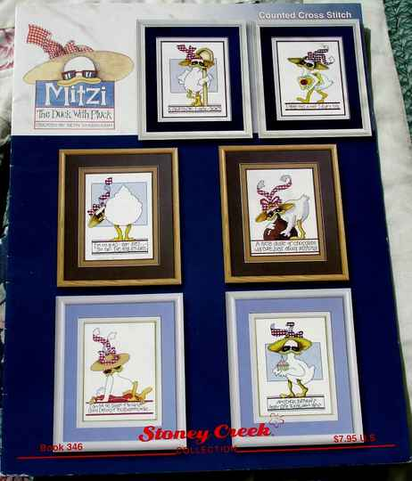 Mitzi The Duck With Pluck Cross Stitch Chart By Beth Yarbrough Book 346