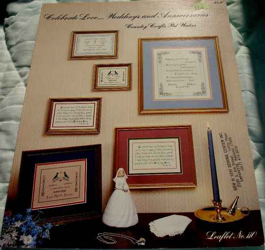 Celebrate Love... Weddings And Anniversaries Cross Stitch Chart By Country Crafts Pat Waters Leaflet 110
