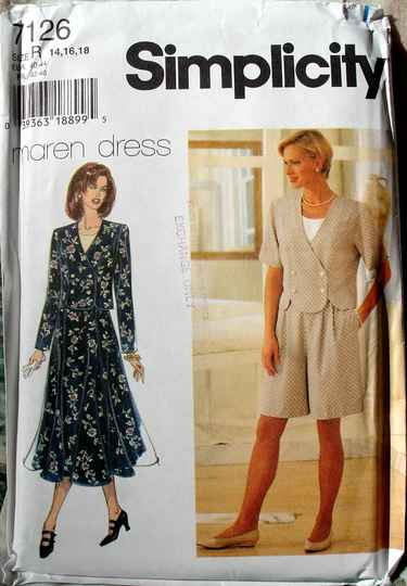 Simplicity 7126 Misses Top Pull On Shorts And Skirt By Maren Dress Size R (14-18)