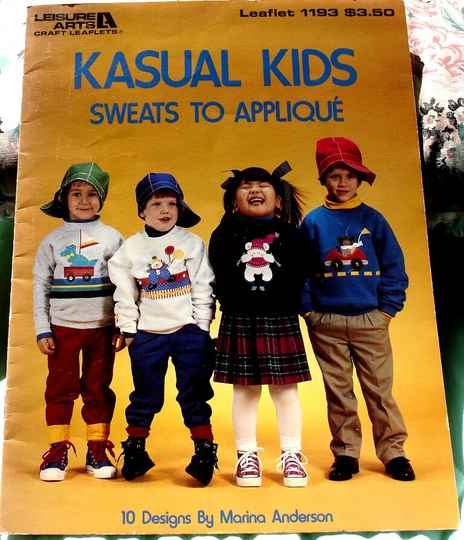Kasual Kids Sweats To Applique Leaflet 1193 By Marina Anderson