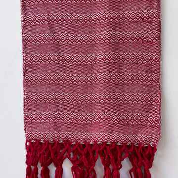 Mexicaanse rebozo Rood/wit