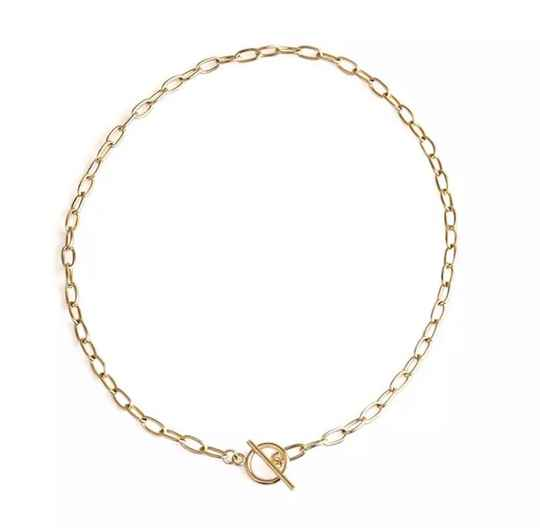 Chain necklace circle gold