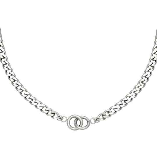 Intertwined ketting zilver