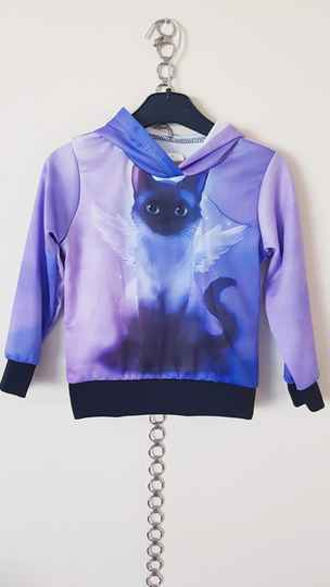 AF1059 Hooded sweater poes lila