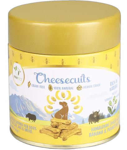 Pawfect Cheese biscuit with Banana & Peanut Butter 100 gram