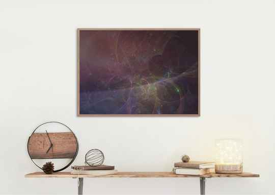 Poster - Digital Art Colours of energy by Anne Mulder