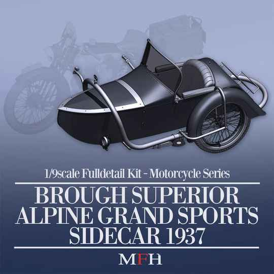 MFH HQ Model kit K663  Brough Superior AGS Sidecar, passend aan SS100 1926 en SS100 1932
