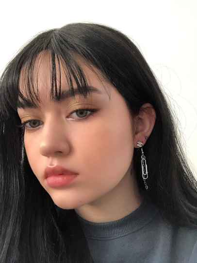 Paper clip earring from