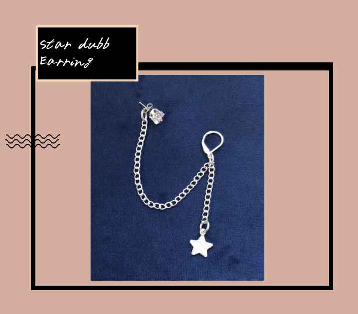 Star ( double ) earring