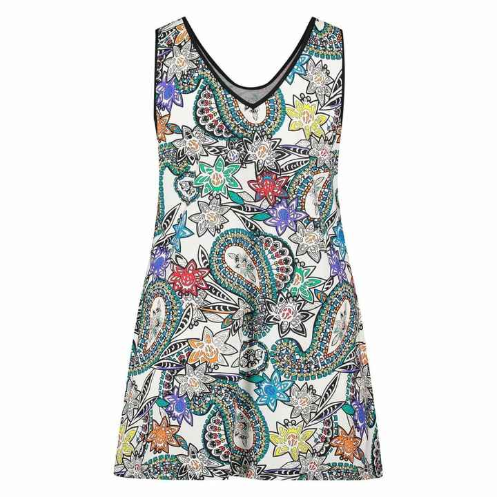Plus Basic Singlet Paisley