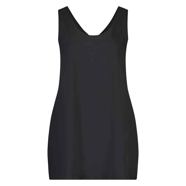 Plus Basic Top Uni Zwart/Blauw