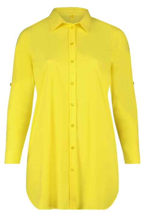 Plus Basic Basic Blouse doorknoop Yellow
