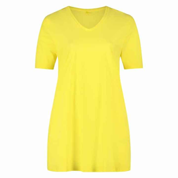 Plus Basic Basis Shirt Aquq en Yellow