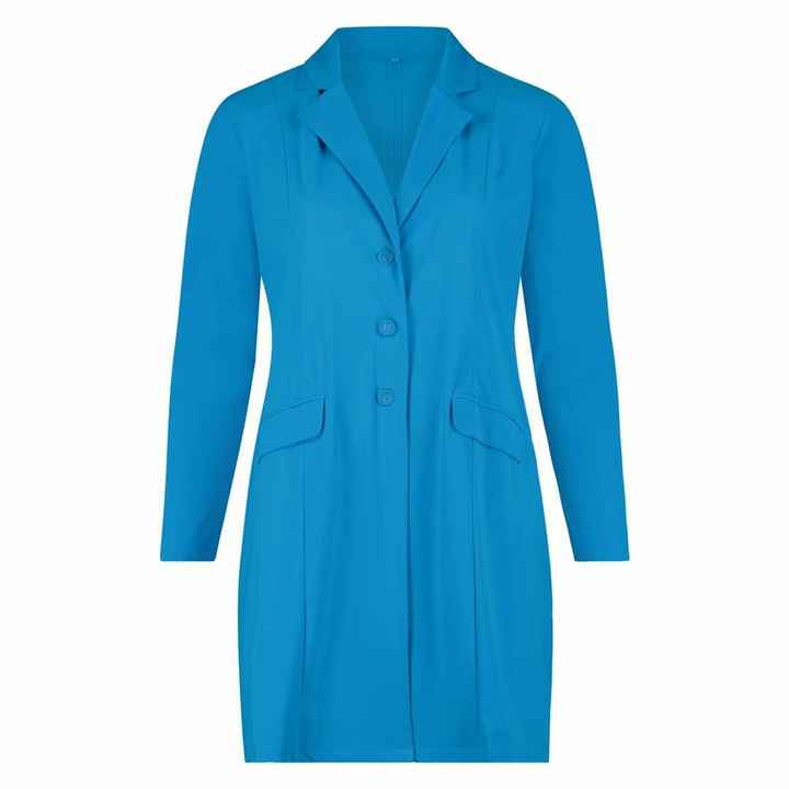 Plus Basic Blazer Aqua