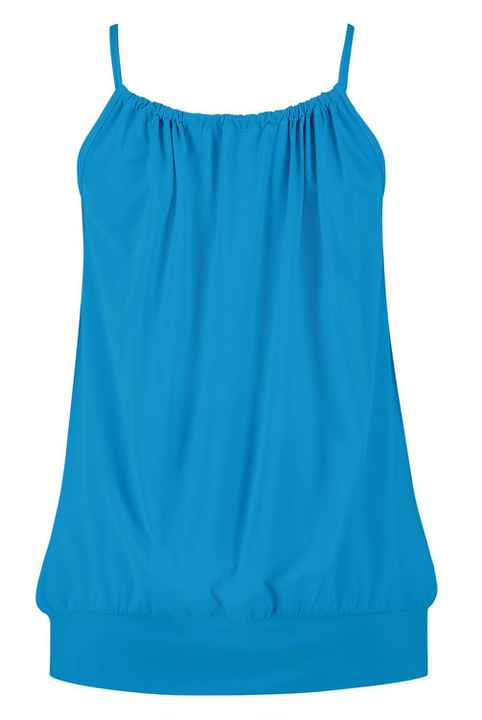 Plus Basic Halter Top Aqua