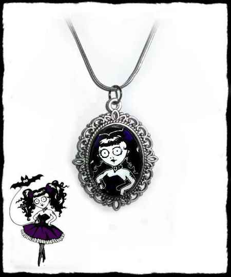 Necklace Doll purple