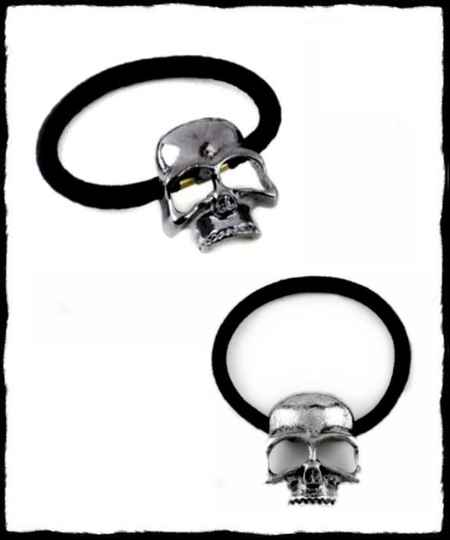Metal hair skull band