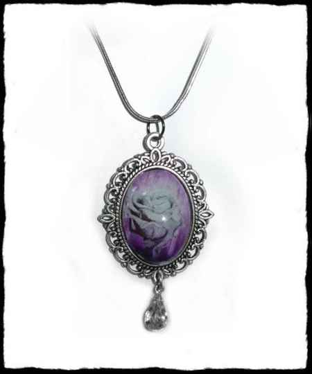 Necklace Purple Rose
