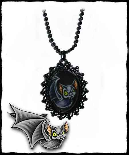 Necklace Bat black