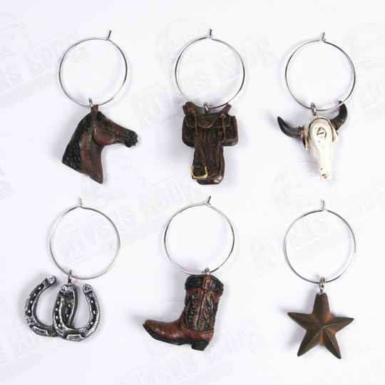 "wine charms  "" Western """