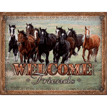 "Sign "" Welcome friends """