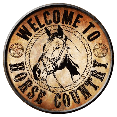 "Sign "" Horse Country """