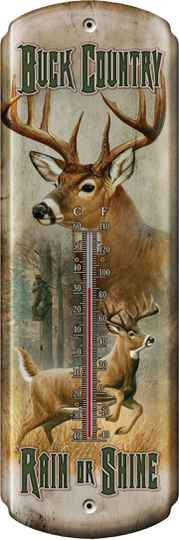 "Thermometer "" Buck Country """