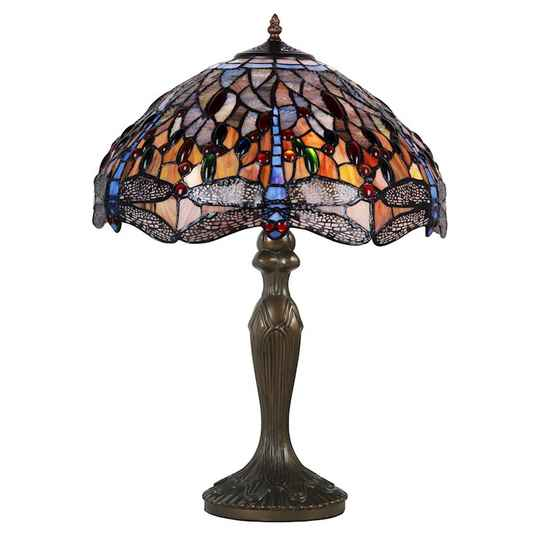 A TIFFANY STYLE TABLE LAMP - DSTF-128